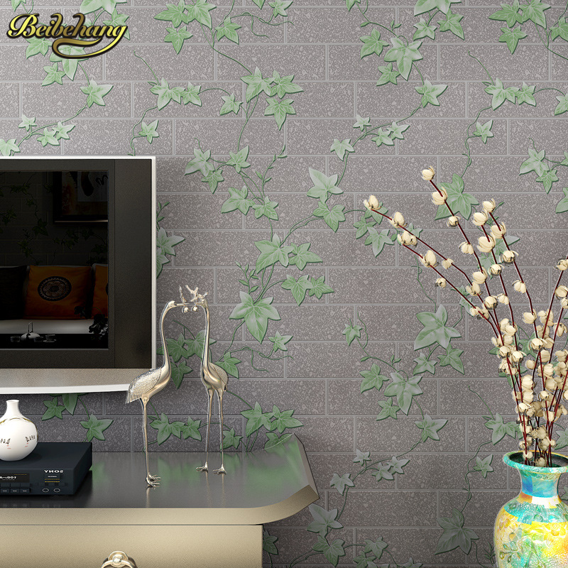 beibehang Maple Leaf Brick papel de parede 3d Wallpaper Wall Coverings Modern Design Bedroom Wall paper For Living Room flooring beibehang papel de parede girls bedroom modern wallpaper stripe wall paper background wall wallpaper for living room bedroom wa