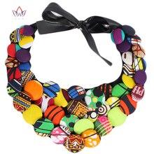 2017 New Design Ankara African Button Necklaces Ankara Necklace African Multistrand Handsome Necklace WYA068