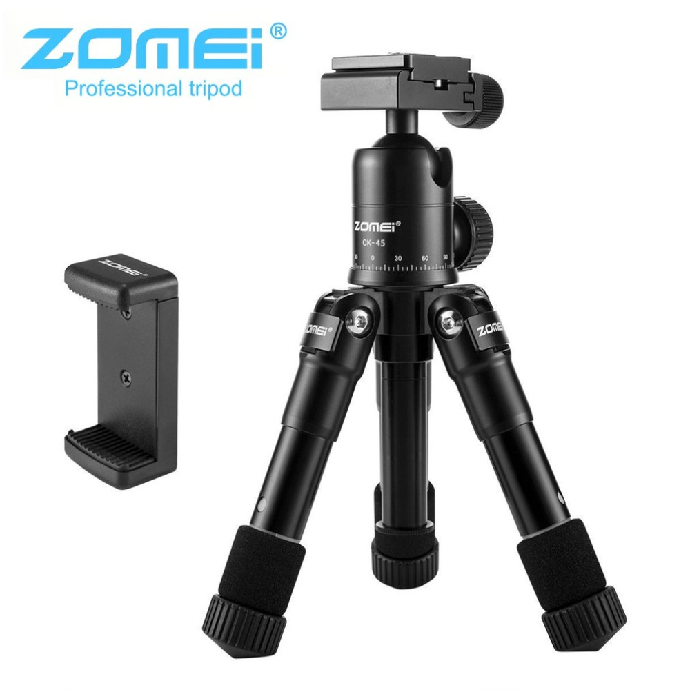 Zomei CK45 Camera Tripod With Quick Release Plate For SLR DSLR Camera With Ball Head Angle Lock Rubber Foot Pad Panning Dial 50pcs lot wire hanger fastener hanging photo picture frame quick easy clutch release nickel plate movable head ceiling