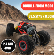 RC Car 4WD Truck Scale Double-sided 2.4GHz One Key Transformation All-terrain Vehicle Varanid Climbing Car Remote Control Toys все цены