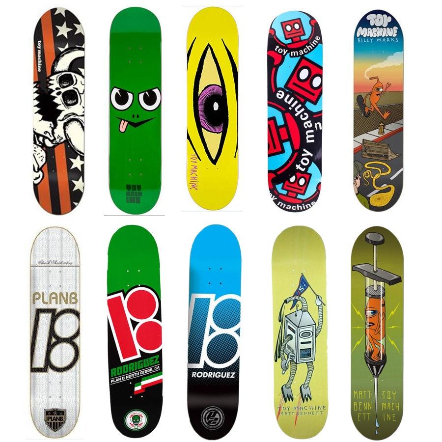 цена на USA Brand Pro Skateboard Deck 8 8.125 8.25 inch Canadian Maple Wood Double Rocker Skate Board Decks Patins Street
