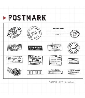 WYF813 NEW 11x16cm Postmark Scrapbook DIY Photo Album Account Transparent Silicone Rubber Clear Stamps