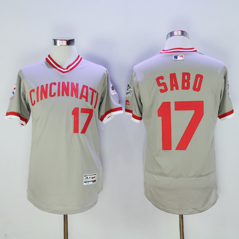 Mens Cincinnati Reds Chris Sabo Flexbase Fully Stitched Baseball Jersey