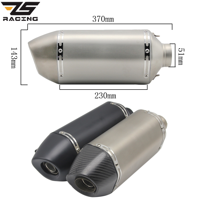 ZS Racing 35 51mm Universal Modified Motorcycle Racing Exhaust Pipe With DB killer For Honda nc750x Benelli trk502 BMW R 1200 GS|Exhaust & Exhaust Systems| |  - title=