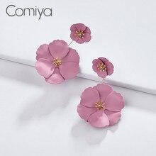Comiya Elegante Tropfen Ohrringe Für Frauen Blume Muster Kunststoff Handgemachte Vintage Zubehör Von Indien Große Ohrring Aliexpress