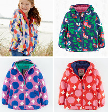 Spring and fall and winter children plus thick velvet quilted cotton padded jacket quilted jacket baby girls windbreaker