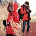 2017 Moda Coreano Mens Casacos de Inverno E Casacos Casais Slim Fit Mens Fur Parka Com Capuz Quente Grossa Jaqueta de Inverno Exército homens/mulheres