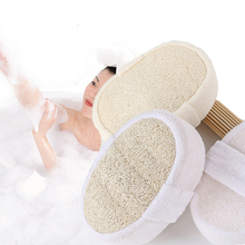 1pc Soft Bath Brush Massage Shower Loofah Sponge Back Spa Scrubber Natural Bath Exfoliating Scrubber Glove Sponge Bathroom Tools natural loofah sponge bath shower ball with brush white