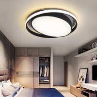 Minimalisme blanc/noir lumières de plafond moderne à LEDs lampada LED pour chambre Foyer maison lampara de techo plafonnier