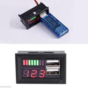 12V Digital Car Motorcycle Voltmeter Voltage Battery Panel Meter w USB 5V Output new(China)