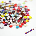Fashion mixed color Shiny Glitter  Mixed Colors SS3-SS30 3D Nail Art Decorations  non-hotfix Flatback Rhinestones DIY Fitting