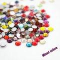 Moda misto de cor Brilhante Glitter Cores Misturadas SS3-SS30 3D Decorações Da Arte Do Prego não-hotfix Natator Pedrinhas DIY Montagem