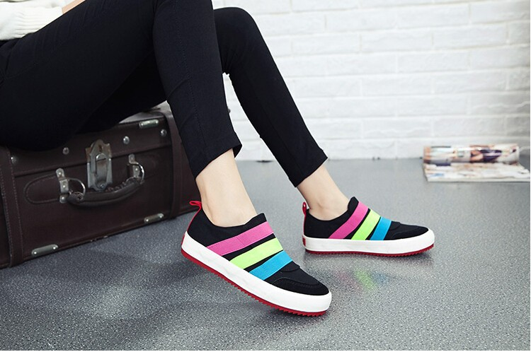 00fe4b944 2015 New Women Canvas Shoes Female Flat Running Shoes Sports Shoe Women's  Fashion Sneakers Tide High Quality
