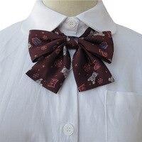 Estudantes japoneses uniformes JK gravata borboleta colar   colarinho Bordado flor bonito kawaii P marca padrão Winnie
