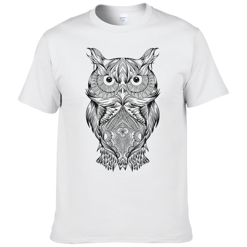 New Creative Cartoon Animal Owl T Shirt Men Women Fashion Summer Short Sleeves Cotton Tops Cool Shirts  #150