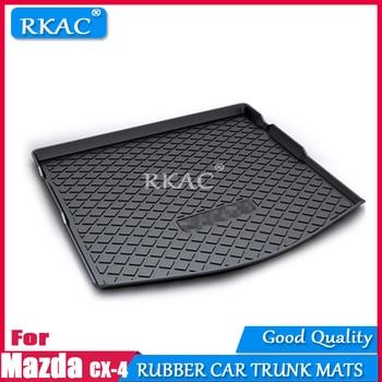 RKAC Rubber mats car trunk mats fit for Mazda CX4 CX-4 2016- 2018 car floor rear cargo mub boot liner auto trunk organizer mats