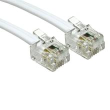 5 متر 4 دبوس ADSL DSL راوتر مودم الهاتف RJ11 إلى RJ11 سلك توصيل للكابل 6p4c أبيض