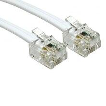 5m 4 Pin ADSL DSL Modem Router telefon RJ11 do RJ11 kabel zasilający 6p4c biały