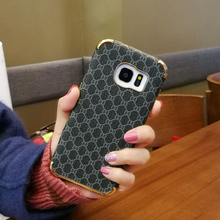 Checkered pu leather Case For Samsung Ga