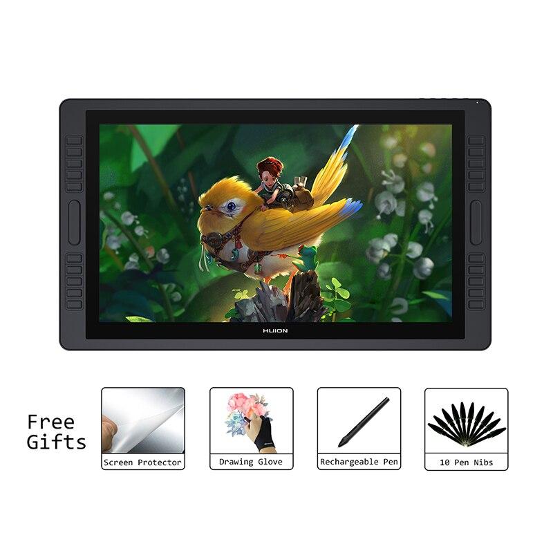 HUION KAMVAS GT-221 Pro 8192 уровней ручка Дисплей Рисунок планшеты мониторы ips ЖК дисплей HD экран 10 пресс ключи-21,5 Дюймов