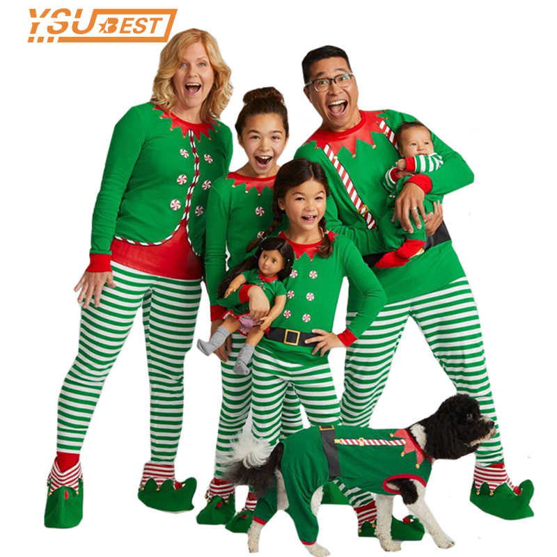Best Family Christmas Pajamas.Family Christmas Pajamas Family Matchig Clothes X Mas Pjs Family Look Sleepwear Mother Daughter Father Kids Nightwear Outfits