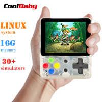 CoolBaby LDK consola de videojuegos Retro Mini consola de juegos portátil consola portátil HD niños Retro Mini consolador niño tetris