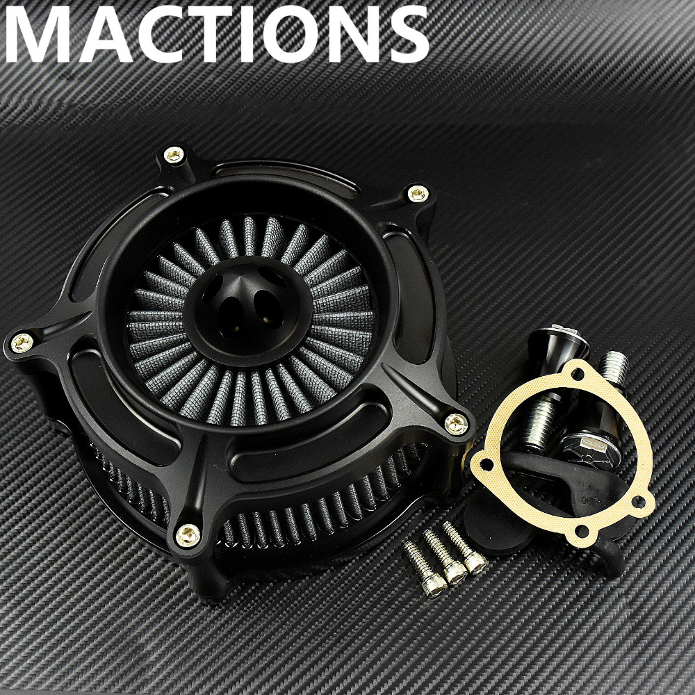 Matte Black Turbine Spike Air Filter For Harley Sportster Air Cleaner Intake For Harley Sportster 883