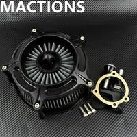 Matte Black Turbine Spike Air Filter For Harley Sportster Air Cleaner Intake For Harley Sportster 883 1200 XL 48 72 1991 16 2017