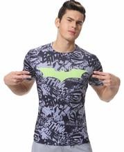 Red Plume Men's Compression T-Shirt , Movie Theme Super Hero Batman Sports Exercise Fitness T-shirt