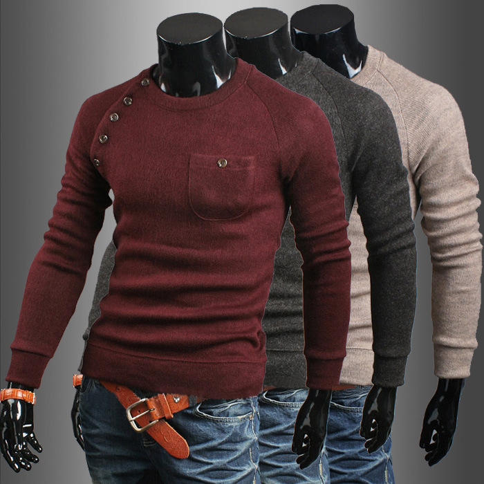 men s sweater imported clothing napapijri vestidos pullover irregular  buttons knitted sweater-in Pullovers from Men s Clothing on Aliexpress.com   97ad4bd3a66