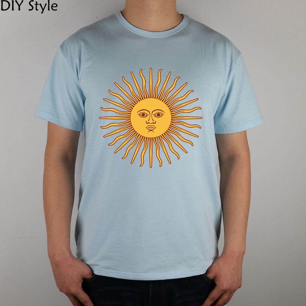 Sun Argentina ABC T-shirt cotton Lycra top 5822 Fashion Brand t shirt men new