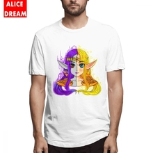 Mens Quality A LINK BETWEEN PRINCESSES T Shirt Cheap Camiseta Round Neck Big Size Homme Awesome Artwork Tee shirt  Streetwear