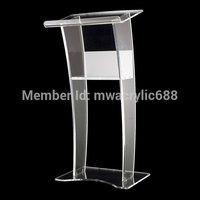 Кафедрой мебели Бесплатная доставка стабильный красивые современные Дизайн дешевые прозрачный Акриловый Трибуна Акриловые Подиум