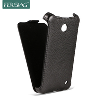 Sale Factory Top Luxury Genuine Leather Case For Nokia Lumia 630 635 Lichee Style Phone