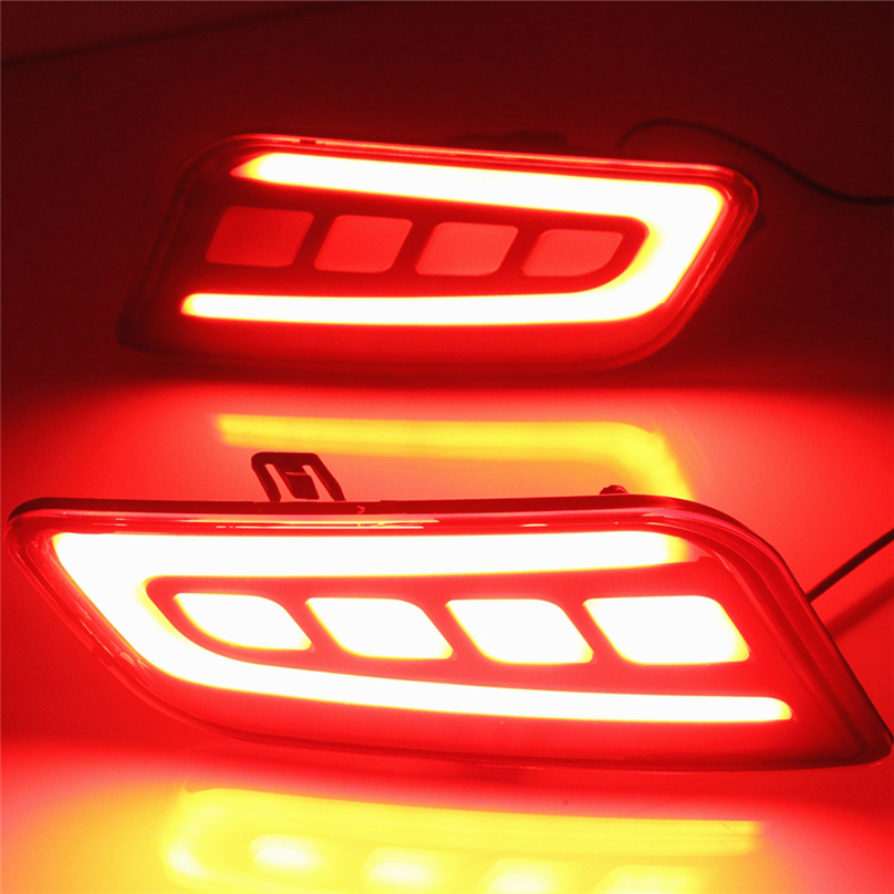 Car Flashing 1 set for ford Everest 2016 2017 2018 LED DRL Rear Bumper tail light
