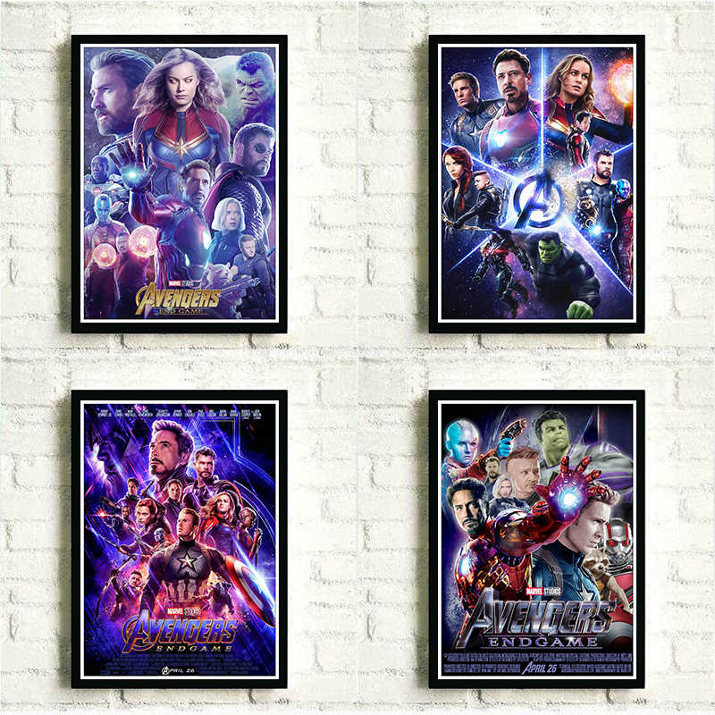 Marvel Movies Superhero Avengers Poster MUC Movie Avengers: Endgame Poster Pictures for Home Art Wall Decor Kids Room Painting