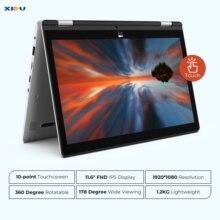 2-in-1 Convertible Intel Atom 1080 IPS Touchscreen Laptop 11.6? Windows 10 Ultraslim Notebook 4GB RAM 64GB ROM 128GB Micro SD