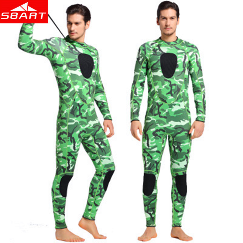 SBART Men's Camouflage Diving Wetsuits 3MM Neoprene One-Piece Wetsuit for Spearfishing Swimming Surfing Diving Neoprene Wet Suit sbart spearfishing wetsuits 3mm neoprene surfing suit wetsuit camo swimming fishing wetsuits camouflage diving wet suit swimming