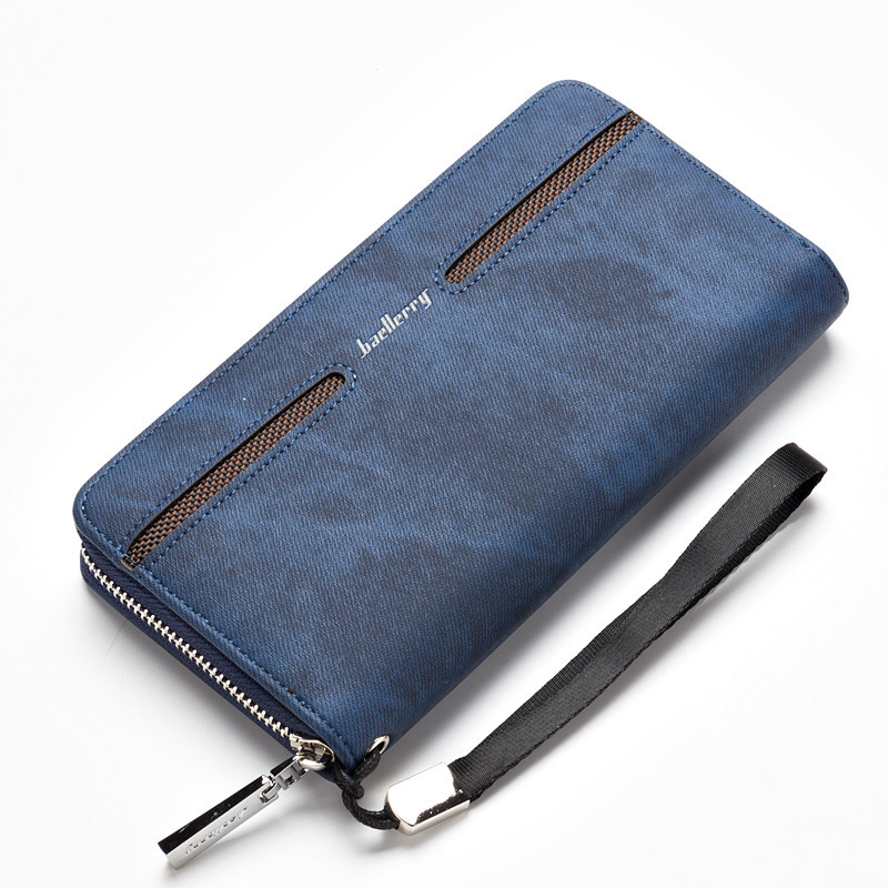 Baellerry 2017 New men wallet canvas purse and handbags for male luxury brand zipper men clutches high-capacit phone bag us and european hot selling new high quality vintage men s long money wallet baellerry wholesale purse clutches for man w008