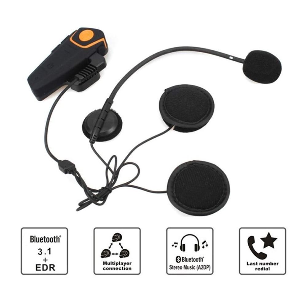 2017 BT-S2 Waterproof Bluetooth 3.1 Motorcycle Helmet <font><b>Earphones</b></font> Hands-free Stereo Motorbike Intercom Headset FM Radio UK Plug