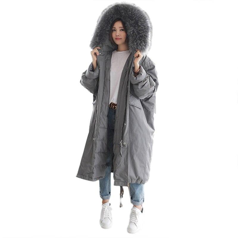 Теплый с капюшоном меховой воротник хлопок длинная парка плюс Размеры Для женщин Зимняя куртка 2018 Костюмы для Mujer женственный De Inverno Casaco