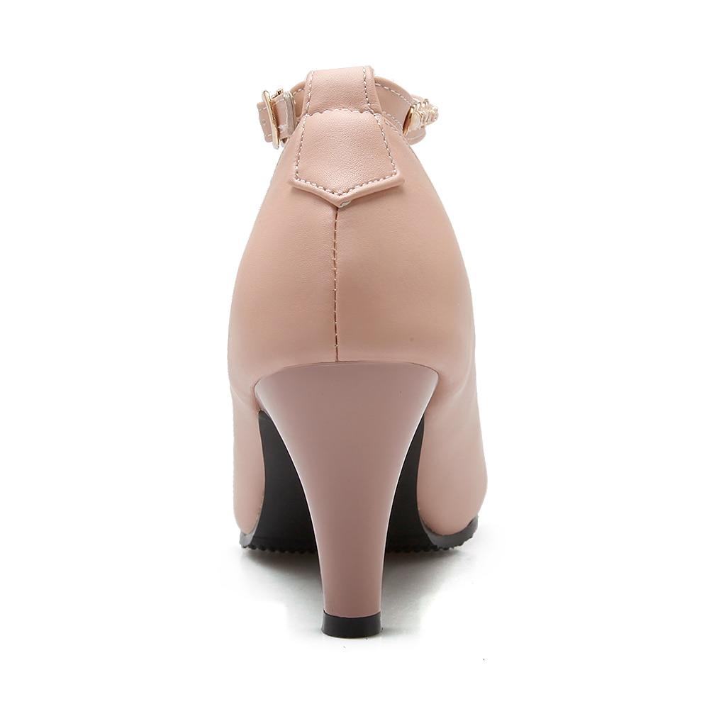 De Grande 3 Taille Qualité 43 Haute Strass Doux Printemps Femmes pink white Couleurs Pointu Automne Perles Black 2016 Talons Pompes Bout amp; Med 31 4qStrwxfq