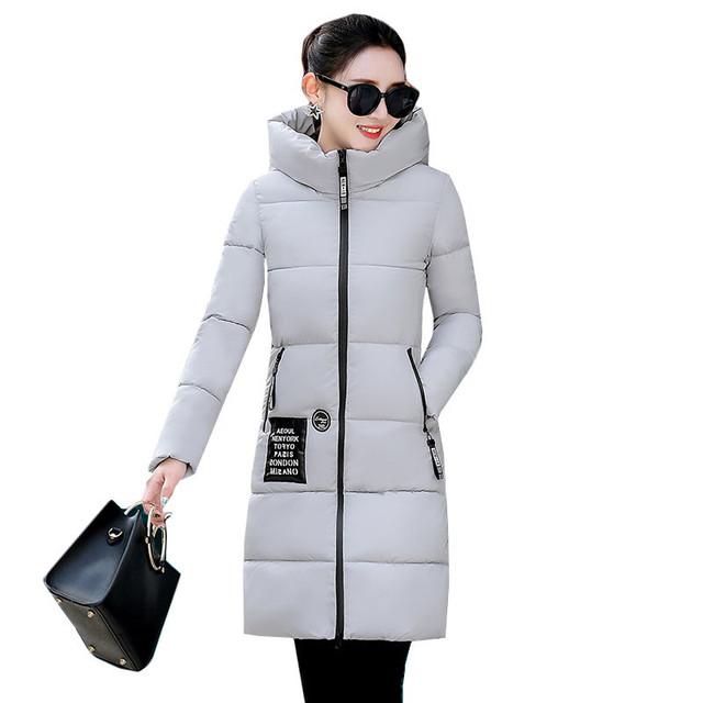 Women Winter Jacket Coat 2019 New Casual Warm Long Sleeve Ladies Basic Coat Feminina Jacket Women Parkas Down Cotton Jacket K588