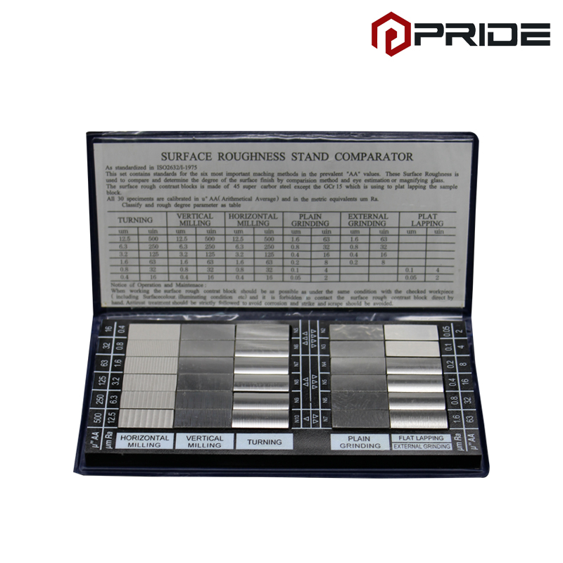 Surface Roughness Comparator Standards Composite Set RUG 100