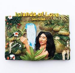Новый ручной росписью Tahitian остров любви, Seychelles 3D магниты на холодильник сувениры для туристов холодильник магнитные наклейки подарок