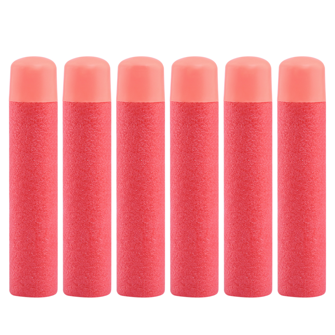 Nfstrike 6pcs Air Soft Bullet Thickened EVA Hollow Soft Head Foam Soft Bullets For Nerf Mega Series Toy Gun Acc - Red