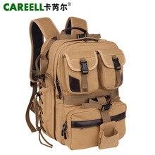 CAREELL холст цифровой большой DSLR камера Сумка Профессиональный Kamera Путешествия Фото двойной плечо рюкзак сумка для Nikon Canon sony