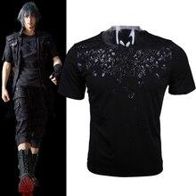 Final Fantasy XV FF15 FFXV Noctis Lucis Caelum Mens Cosplay Skull Short Sleeve Cotton O-Neck T-shirts Tee Shirts