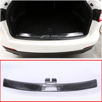 For Maserati Levante SUV 2016 Car Accessories Black 304 Steel Rear Tail Bumper Protector Plate Cover
