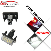 Canbus No Error 18SMD 7000K Xenon White LED Number License Plate Light For Toyota Yaris 2012